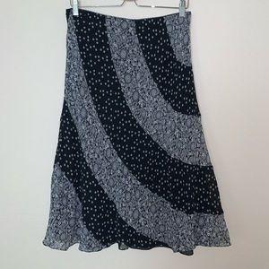 100% silk long skirt